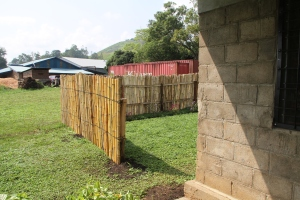 The Northeast corner finished, minus the gate