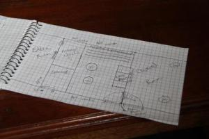 The rough sketch of the coop design