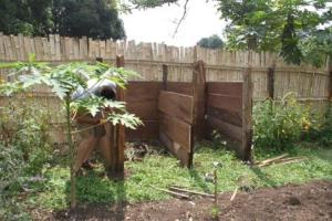 The completed compost bins - ready to be filled, turned and one day emptied out onto the garden