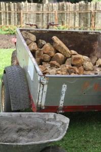 A trailer of rocks