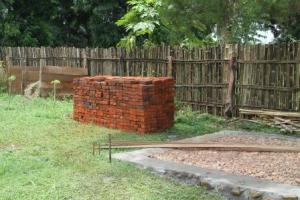 The pile of bricks ready and waiting