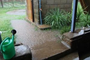 Some of the standing water around our yard was several inches deep in just a matter of a few minutes