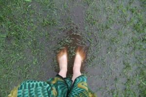 Some places in the yard had water up to my ankles