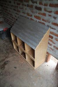 The finished nest boxes