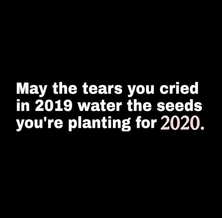 tears you cried are seeds for 2020
